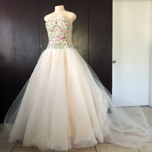 Gorgeous Pale Sherbet Lazaro Wedding Dress.